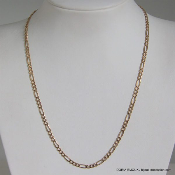 Chaine Or 18k, 750 Maille Alternée - 43cm - 7.8grs