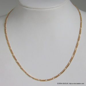 Chaine Or 18k, 750 Maille Alternée - 38cm - 2.1grs