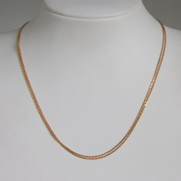 Chaine Maille Forçat Or 18k 750 - 40cm - 4.3grs