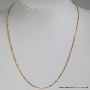Chaine Or Jaune 18k 750  Maille Torsade 1.9grs -40cm