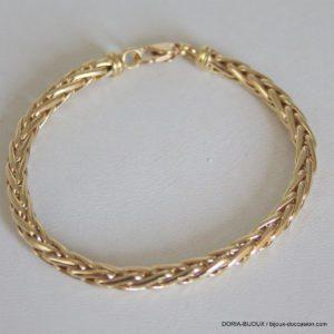 Bracelet Or 18k 750 Maille Palmier - 11.05 Grs