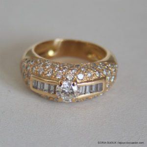 Bague Or 18k Diamants - 11.9grs- 53