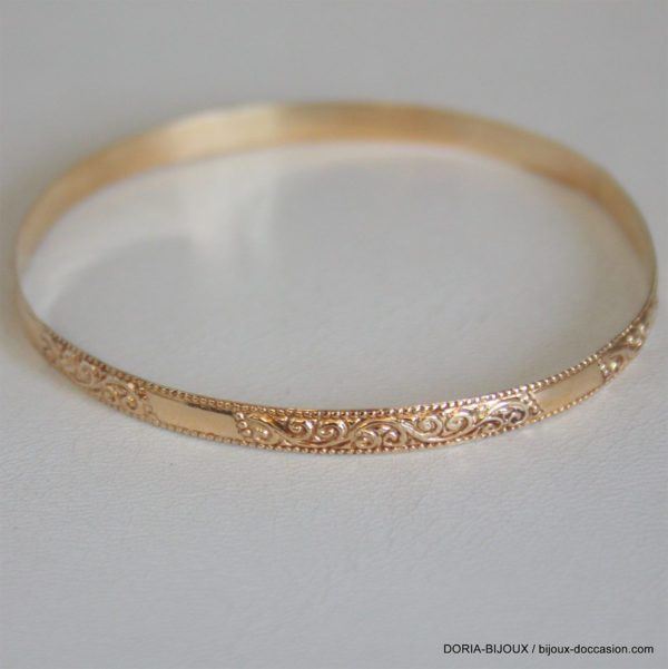 Bracelet Rigide Or 10k  -6.1GRS
