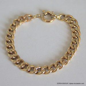 Bracelet Or 18k 750 Maille Gourmette- 19.3grs