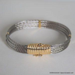 Bracelet Acier Et Or 18k 750/000 - 21grs