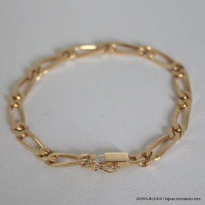 Bracelet Or 18k 750 Maille Alternée - 14.7grs