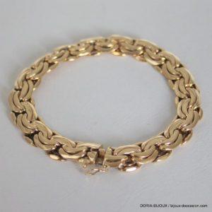 Bracelet Or 18k 750 Maille Alternée - 28.2grs