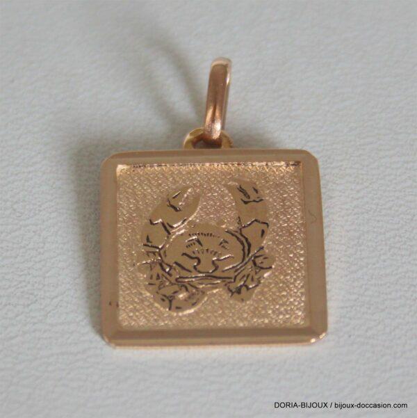 Pendentif Or 18k 750 Astrologie Cancer - 3.3grs