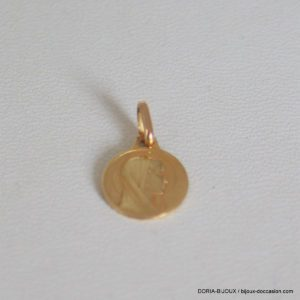 Medaille Or Vierge Or Jaune 18k, 750 - 0.7grs