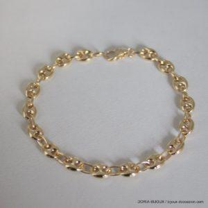 Bracelet Or 750 18k Grain De Café 21cm -11.50grs 7mm