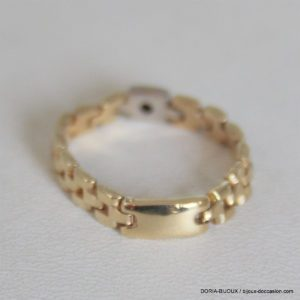 Bague Articulée Or 750 Diamant 0.02cts -2.8grs -59