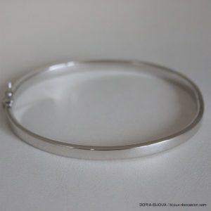 Bracelet Jonc Ouvrant Or Gris 18k 750- 7.80grs