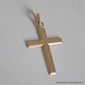 Pendentif Religieux Croix Or 18k, 750/000 - 1.85grs