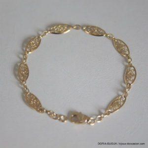 Bracelet Or 18k, 750 Maille Filigrane - 4.55grs
