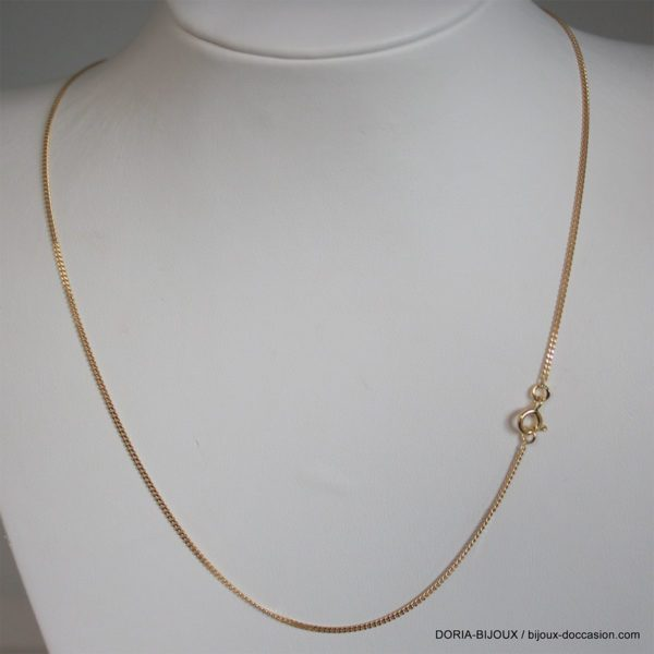 Chaine Or 18k, 750 Maille Gourmette 40cm- 1.85grs
