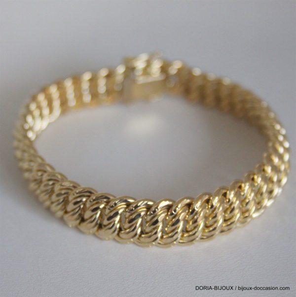 Bracelet Or 18k 750 Maille Americaine 20.75grs -19cm