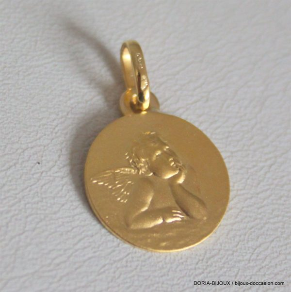 Médaille Ange Or Jaune 18k, 750/000 - 1.65grs