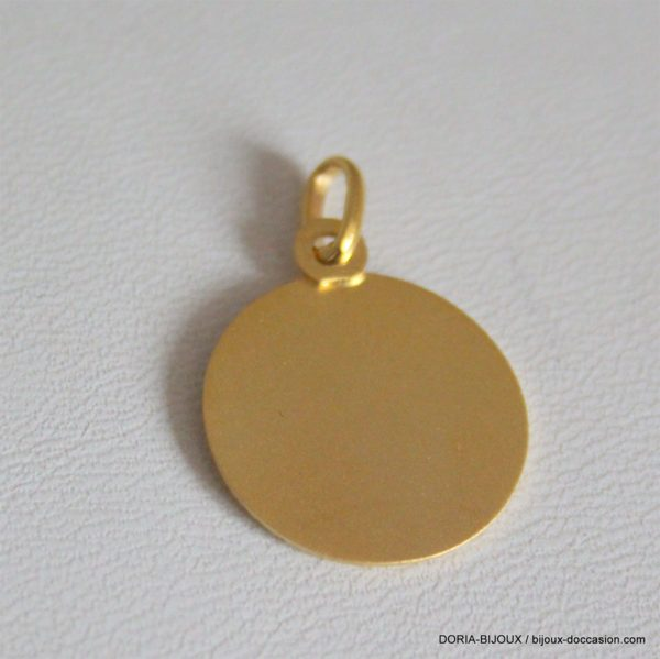 Médaille Ange Or Jaune 18k 750- 2.75grs