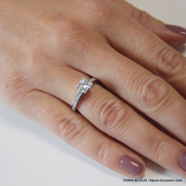 Bague Or 18k 750 Diamants- 3.5grs- 49
