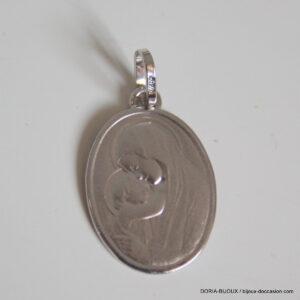 Médaille Vierge Or Blanc
