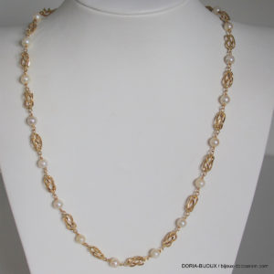 Collier Perles Or 18k 750 - 46cm- 13.2grs