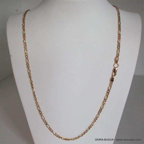 Chaine Or 18k 750 Maille Alternée 23.4grs-80cm-