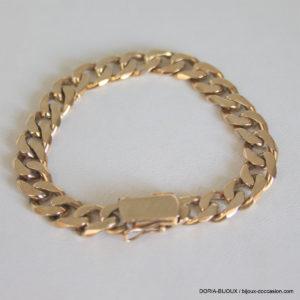 Bracelet Or 18k 750 Maille Gourmette - 28.2grs