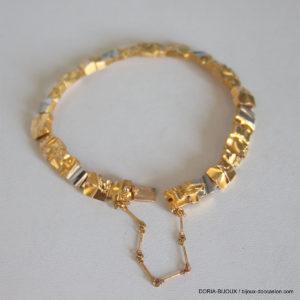Bracelet Or 14k 585 Maille Fantaisie- 27.8grs