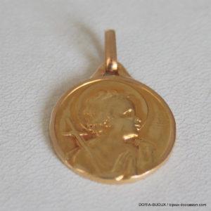 Medaille Religieur Ange Or 18k, 750/000- 1.90grs