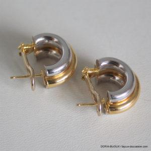 Boucles D 'oreilles Demi-Créoles Or 18k 750 - 10grs