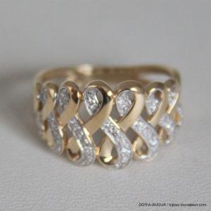 Bague Or 18k 3.30grs  Diamant 0.07ct L