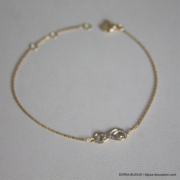 Bracelet Or 18k 750 Infini Diamant 0.024ct - 125grs