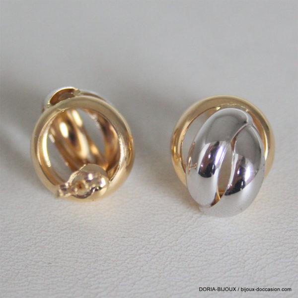 Boucle D'oreille Électroformées Or Jaune/Rhodié