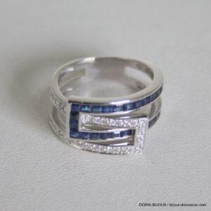 Bague Or 18k5.80grs Saphir Diamant