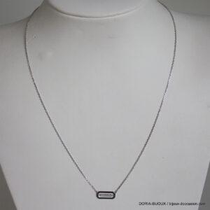 Collier Or Gris 18k Pendentif Diamant - 2.10 Grs