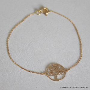 Bracelet Arbre De Vie Or Jaune 18k, 750/000 - 1.4grs