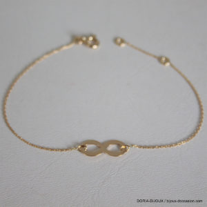 Bracelet Infini Tout Or 750 Jaune - 1.10grs