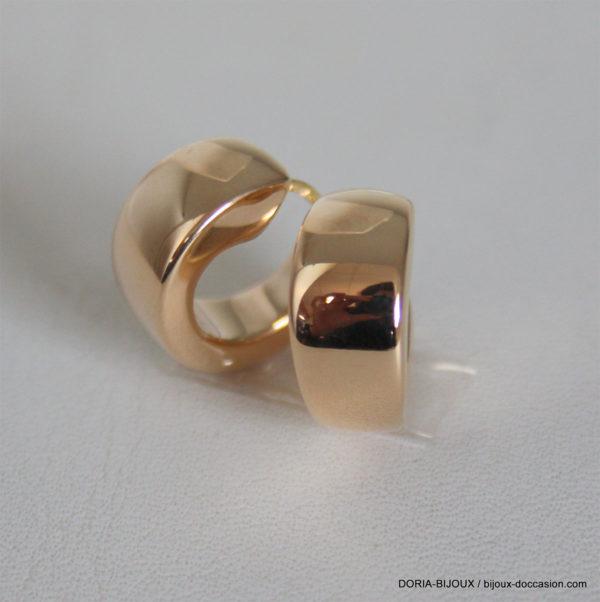 Boucle D'oreille Électroformées Or Jaune