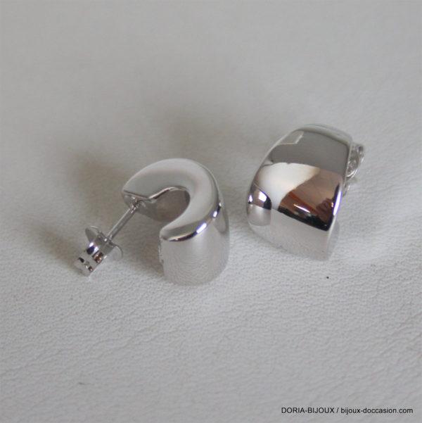Boucle D'oreille Électroforméesor Blanc 2.75grs