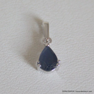 Pendentif Saphir Or Gris 18k 750 - 0.45grs