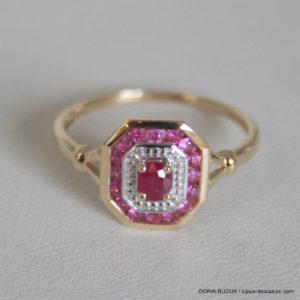 Bague Or 18k 2.10grs Rubis Diamant