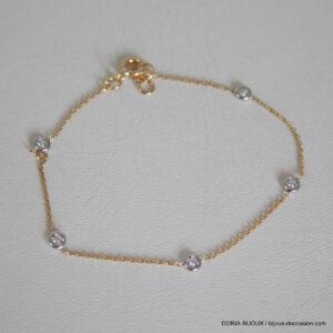 Bracelet Or Jaune 18k, 750 Diamants - 1.3grs