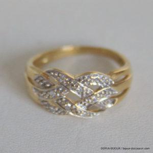 Bague Or 18k 750  Diamants - 3grs-  51