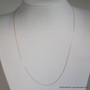 Chaine Maille Forçat Or 18k 750 - 45cm - 0.9grs