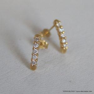 Boucles D'oreilles Or Diamants 750 18k- 1gr