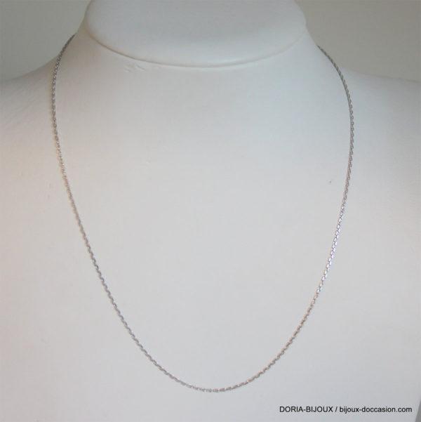 Chaîne Forçat Or Blanc-38cm  - 1.95grs