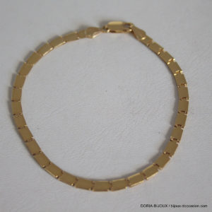 Bracelet Or 18k 750 Maiile Fantaisie - 6.4grs