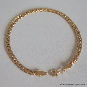 Bracelet Or 18k 750 Maiile Fantaisie - 2.9grs