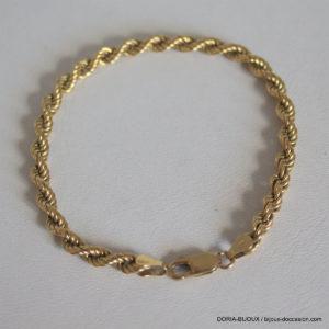Bracelet Or 18k 750 Maiile Corde -6.7grs