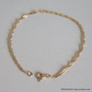 Bracelet Or 18k 750 Maiile Corde  1.3grs
